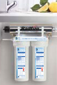 Kill bacteria with Ultraviolet technology, the Undersink Dual UV Water Filtration System