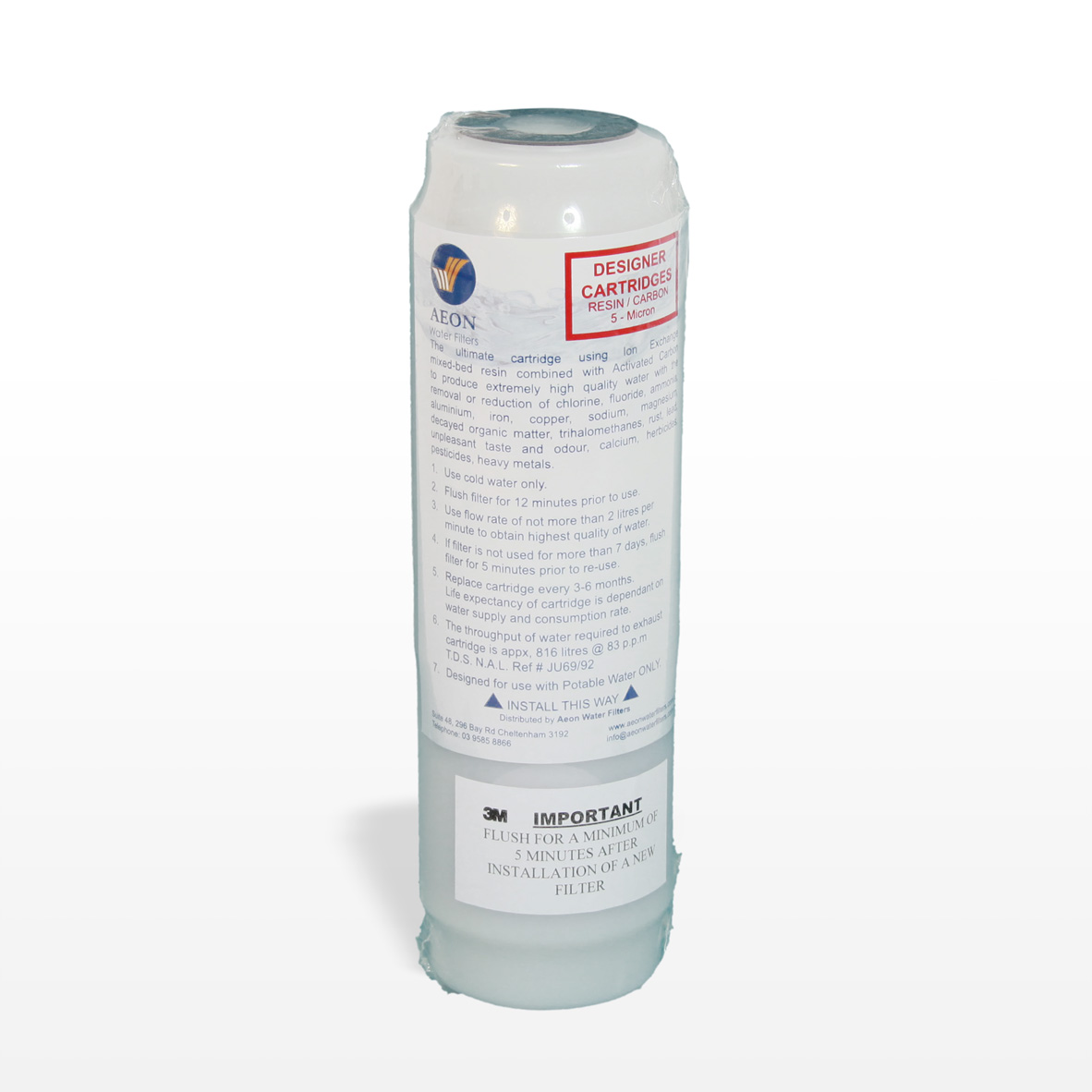 5 micron designer cartridge resin carbon aeon water filters. Black Bedroom Furniture Sets. Home Design Ideas